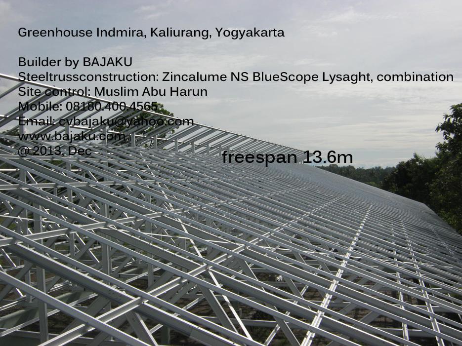Greenhouse_Baja Ringan Indmira Greenhouse Yogyakarta