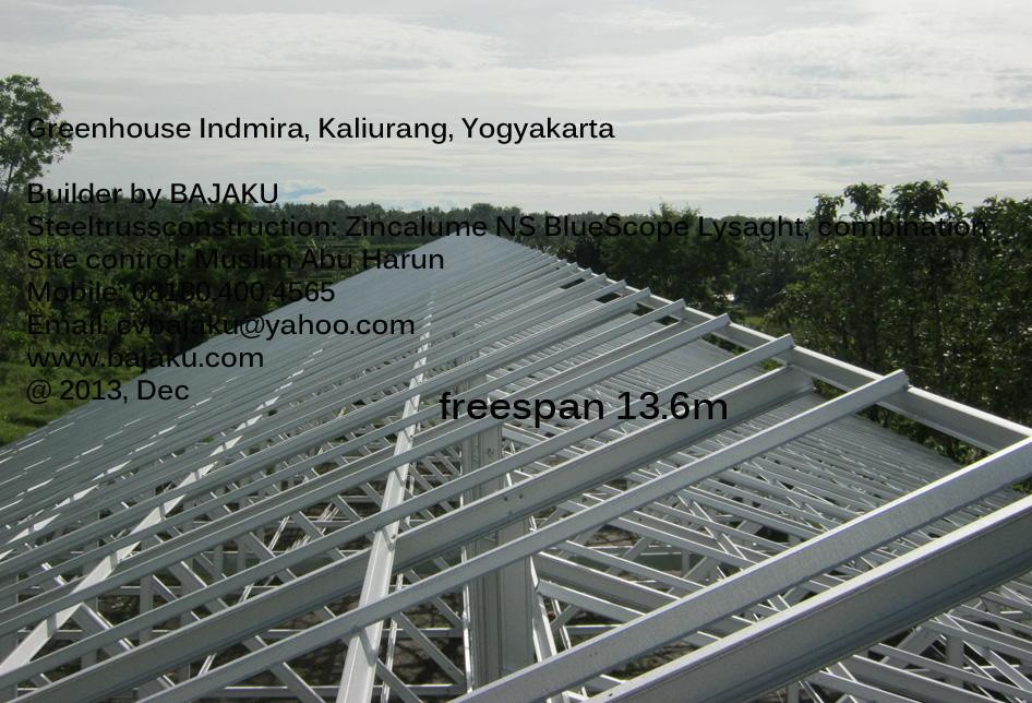Baja Ringan Atap rumah tananam Greenhouse