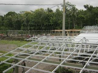 Konstruksi Kandang Sapi Peternakan PT Sari Husada di Sleman Yogyakarta