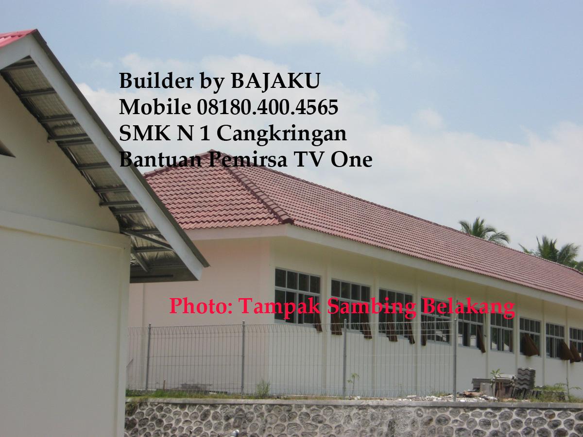 Proyek SMKN 1 Cangkringan tampak samping belakang: finish