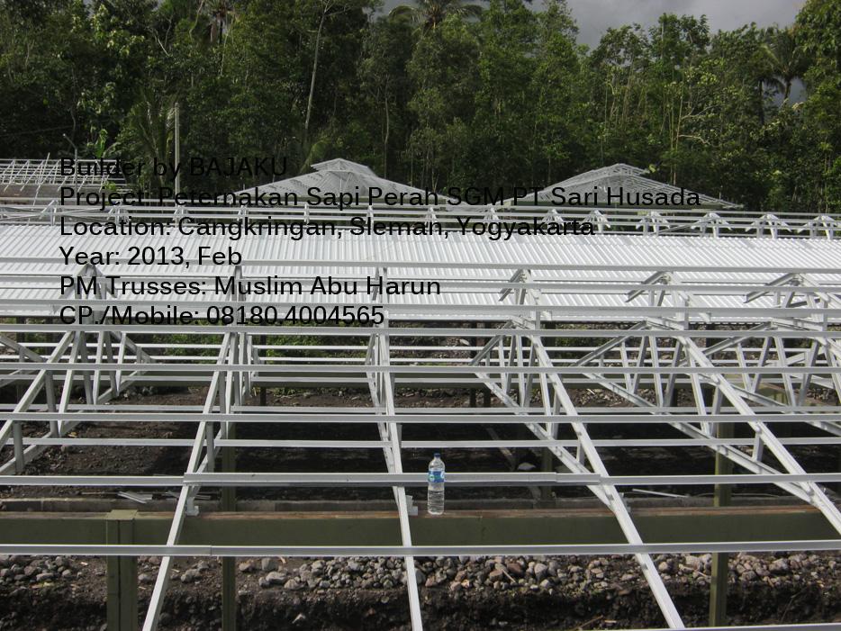 Peternakan dengan rangka atap baja ringan