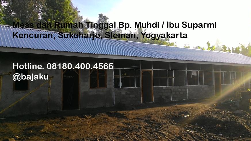 Pembangunan Rumah Tinggal Kontrakan Kos-kosan Bp Muhdi Sleman Yogyakarta