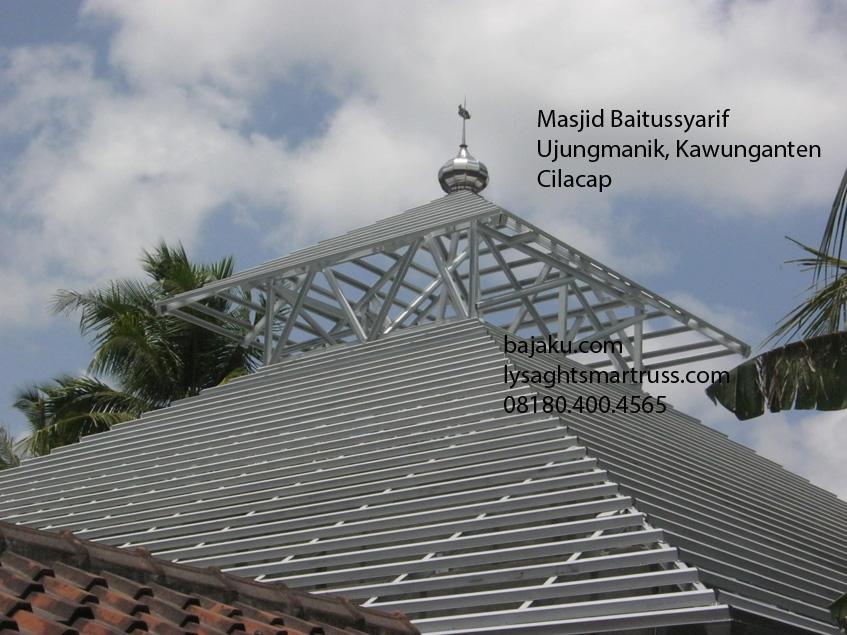 Rangka Baja Masjid Baitussyarif - BAJAKU - SMARTRUSS