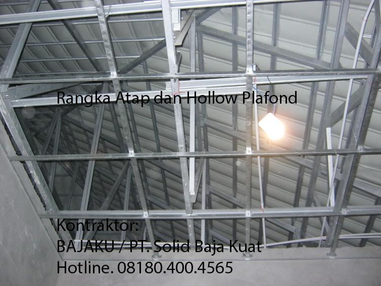 Banguna Rumah - Rangka Atap dan Hollow plafond