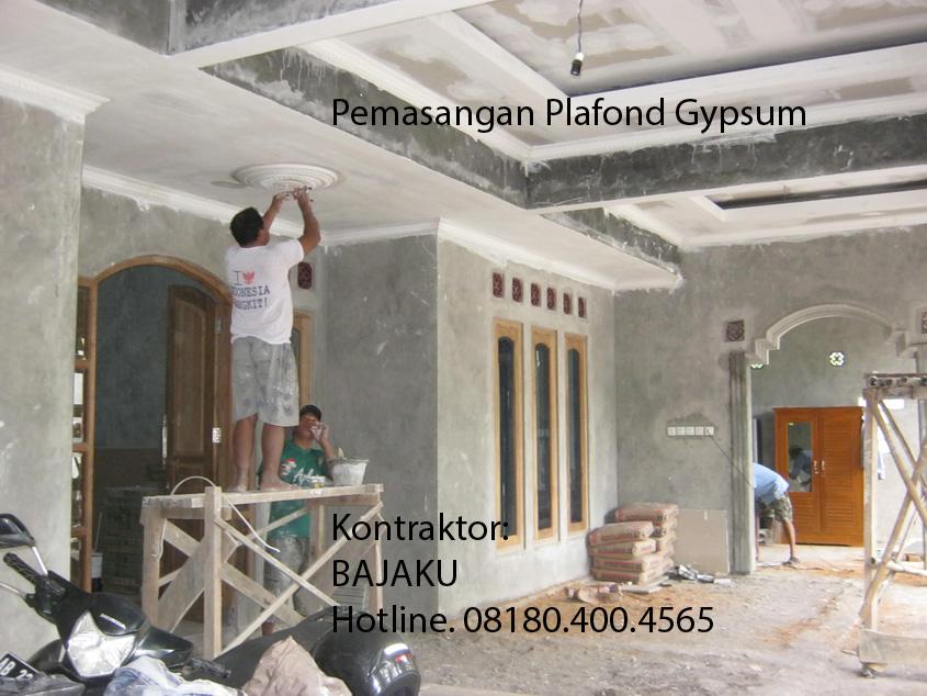 Pemasangan Plafond Gypsum