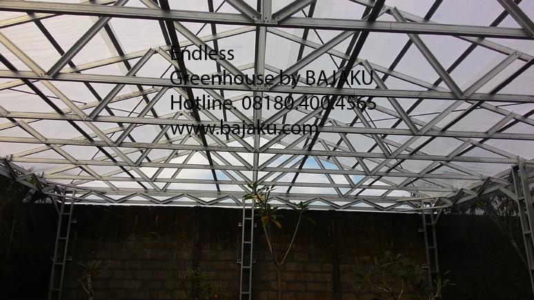 Greenhouse Mini 8 x 10 untuk taman bunga