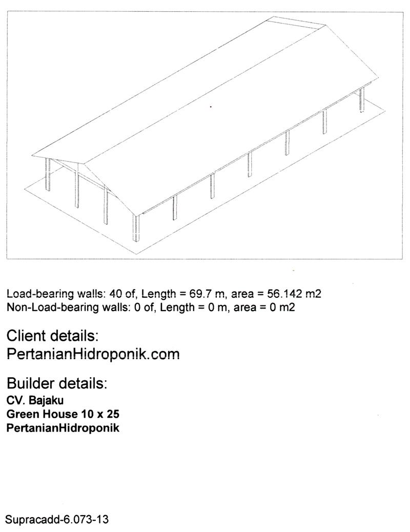 BAJAKU-GreenHouse Pertanian Hidroponik 10 x 25