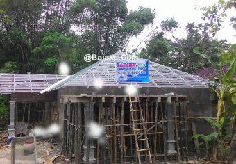 Konstruksi Baja Ringan Bangun Rumah Proyek di Bayat Klaten